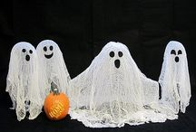 Halloween decorations / Cheese cloth ghost