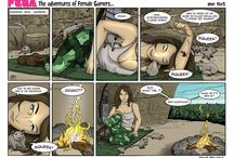 Female-Gamers - Comic by Martin van der Schuijt