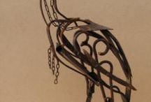 Animaux sculptures fer