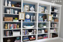 Bookshelf styling / by Laura Dupaix