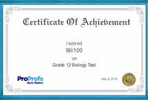 My biology test grade 12