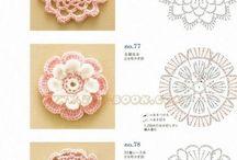 Applique Crochet flowers & embellishments