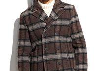 Men's Classic Plaid Coats