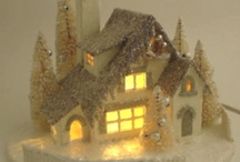 paper houses, putz houses, paper gingerbread houses