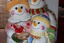 COOKIE JAR ~ SNOWMAN / by Sue Dewland