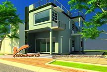 Thiết kế nhà phố, nhà ống, nhà liền kề / Thiết kế nhà phố đẹp: KTS Nguyễn Trường đã giải bài toán bố trí không gian sống thoải mái, các phòng rộng thoáng, riêng biệt khi thiết kế nhà phố với một diện tích khiêm tốn. http://vietnamarch.com.vn/thiet-ke-kien-truc/thiet-ke-nha-pho/