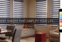 PowerView™ Motorization   Hunter Douglas / A revolutionary new system that automatically moves your shades throughout the day, so you don't have to.  By Hunter Douglas...available at www.alleen.com