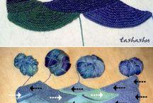 Plést - Modulové pletení - Knit - Modular knitting - Entrelac knitting
