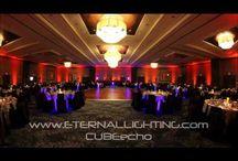 Our Uplighting / transform your ballroom!