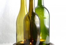 Wine bottle upcycles / by Laurie Cocking