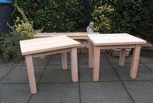 Werkstukken / Dit bord gaat over de werkstukken die ik maak in mijn klein werkplaats. Ik probeer zoveel mogelijk gebruik te maken van al eerder gebruikt materiaal en dan voornamelijk hout.