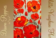 Ince uzun pano şeklinde çiçekler