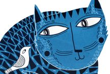 ART painting cats / illustrations and paintings