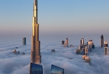 city above clouds