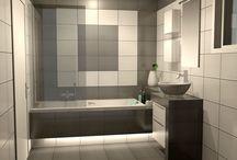 Η ΗΡΕΜΙΑ ΤΟΥ ΓΚΡΙ / Φωτορεαλιστική απεικόνιση πρότασης για ανακαίνιση μπάνιου σε κατοικία στο κέντρο της Αθήνας.