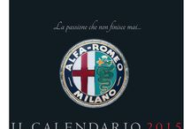 """Alfa Romeo calender 2015 """"IL CALENDARIO 2015"""" / This is new Alfa Romeo calender 2015 """"IL CALENDARIO 2015"""". There are 12 beautyful pictures of (partly very rare) historical Alfa Romeos in it. The hole shooting was made in italy."""