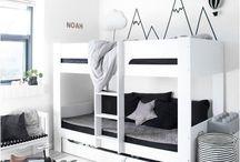 monochrome boy bedroom