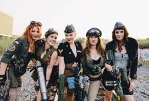 Diesel Punk / The diesel punk styling to go with a grungy ww2 look for a beach landing inspired photoshoot.
