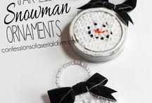 Mason lid snowman