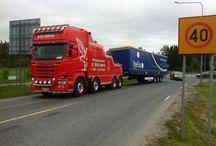 European Tow Wrecker Trucks on Duty (1) / European Tow Wrecker Trucks doing their job....Wrecking.