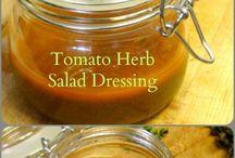 Healthy salad dressings and mixes