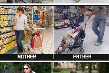 Mutter vs. Vater