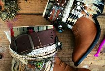 shoes / boots vintage boho
