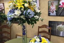 Royal blue spring wedding