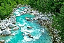 Rivers of Slovenia / From the lively rivers nested in the heart of the Alps, the powerful flows in the depths of the underground world of Karst, to the peaceful rivers meandering through the Slovene countryside and cities.