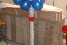 Ballon Pilaren & bogen / Ballon Decoratie's  zoet & leuk