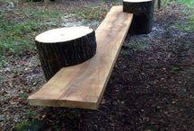 Råt træ møbler
