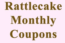 Rattlecake Coupons / The monthly coupons good at www.rattlecake.com will be posted here at the beginning of each month. / by Michelle Storms