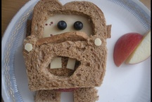 FOOD: Fun Sandwiches and food art / I've made these fun sandwiches and food for my kids.