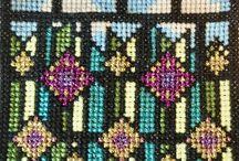 'Stained Glass' Cross Stitch Kit by Meadow Cross Stitch