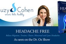 Suzy's Headache/Migraine Relief Tips / Tips on Headaches and Migraine relief by Suzy Cohen, RPh (www.SuzyCohen.com).  They are very informative and mix natural and traditional options for all readers.  My mission is to teach you about a lifestyle that is based upon good nutrition, exercise and natural alternatives to pharmaceuticals. Suzy specializes in natural medicine but is a traditionally trained pharmacist. / by Suzy Cohen RPh
