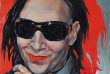 Marilyn Manson portraits / Marilyn Manson is a great model and inspiration for artists. Portraits of Marilyn Manson, paintings, drawings, graphics my and other artists.