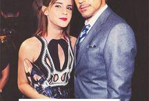 Robert Downey Jr. and Emma Watson