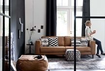 Tan leather couch