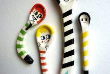 Ceramic Spoons / Spoons, ladles, etc.