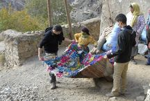 Atlas Mountains / We travel regularly up to the villages in the High Atlas Mountains to source our rugs directly from the Berber women who hand weave them.