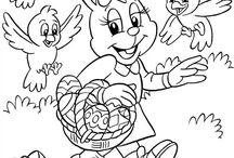 velikonoční omalovánky