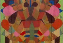 Paintings by Jason Thompson / Enamel paint and varnish on wood