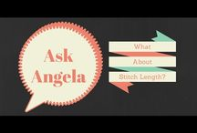 "Ask Angela (answering machine quilting questions) / ""Ask Angela"" is a short video blog series in which I answer viewers' machine quilting questions......"