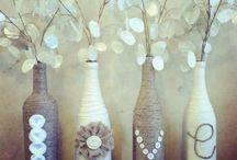 recycler bouteille de vin en vase