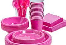 Pink engangsservice / Stort udvalg af flot pink engangservice til din fest.