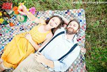 Engagement- Picnic Themed / Picnic Themed Engagement Shoots