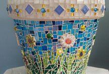Mosaiikki ruukut ja vaasit