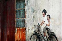 Arte. / Arte de pessoas anônimas pelas ruas.