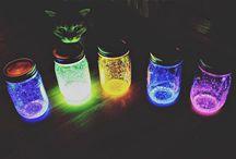 világitó üvegek
