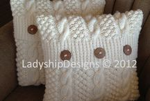 Travesseiro de tricô